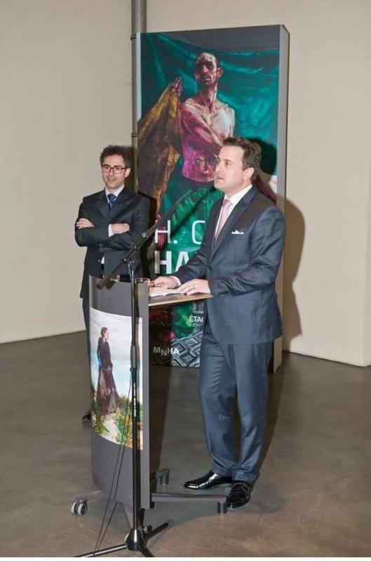 H Craig HANNA Xavier Bettel, Premier Ministre et Ministre de la Culture, Luxembourg, et Michel Polfer, directeur du MNHA 2019