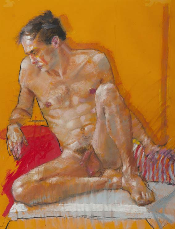 H Craig HANNA Man with Red Armchair 2011