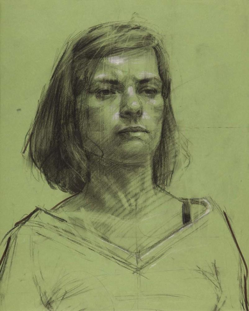 H Craig HANNA Anne à la Bretelle Noire 2012