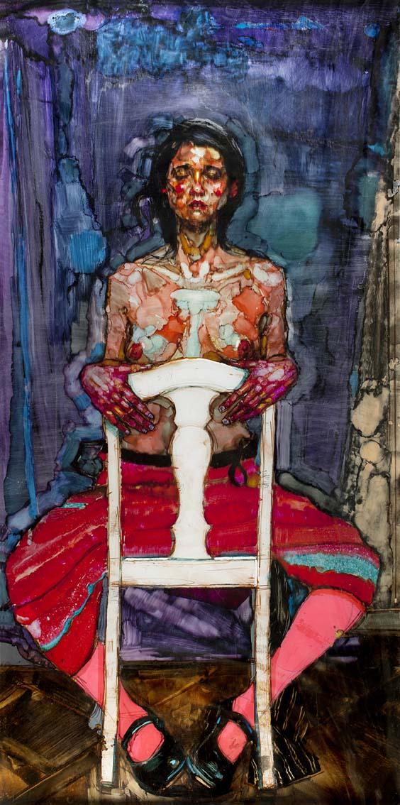 H Craig Hanna Woman with White Chair 2011