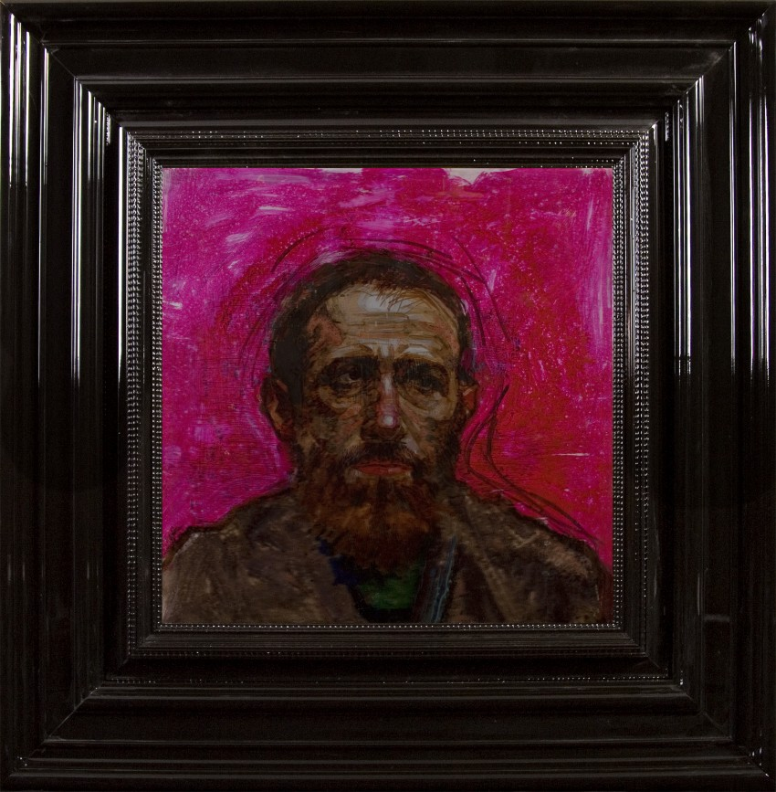 H Craig HANNA Bearded Man in Pink 2009