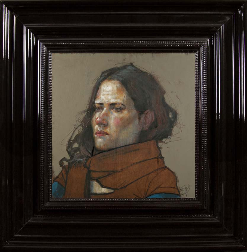 H Craig HANNA Woman with brown Scarf 2011