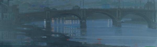 H Craig HANNA Dock de Londres Bleu 2007