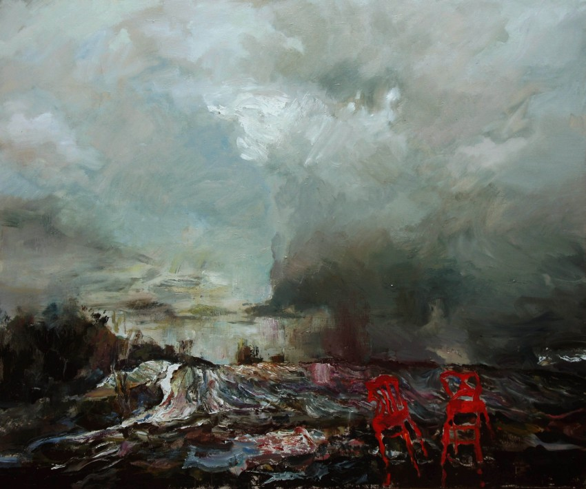 Kostya Lupanov Landscape with very beautiful but inappropriate chair 2015