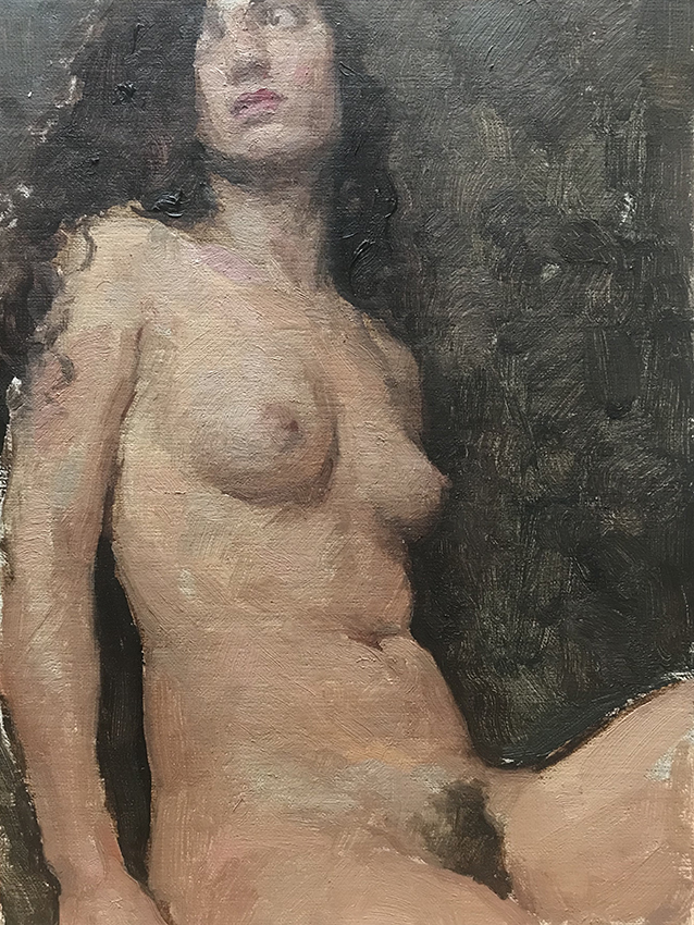 Travis Schlaht Seated Nude - Leaning Back 2018