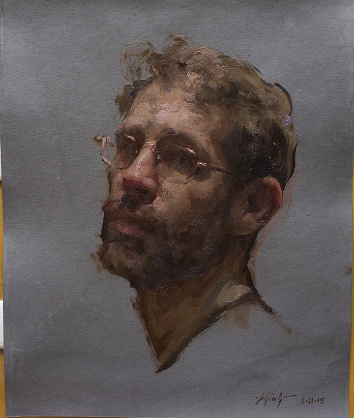 Travis Schlaht Selfportrait age 40 2015