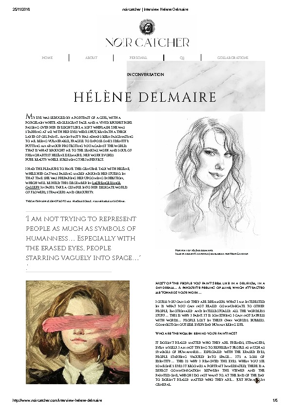thumbnail of noircatcher _ Interview Helene Delmaire
