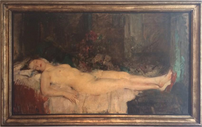 Oeuvres Anciennes Grand Nu Couché à la Mule 1910