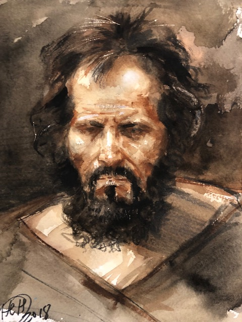 H Craig HANNA Watercolor from Rubens 2018