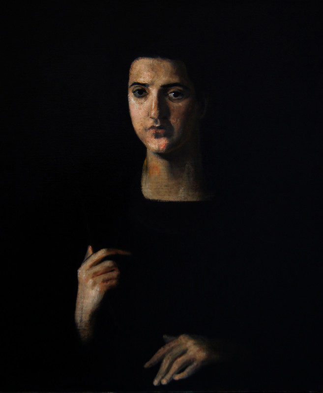 Adrien Eyraud Maria Etude sur fond noir III 2018