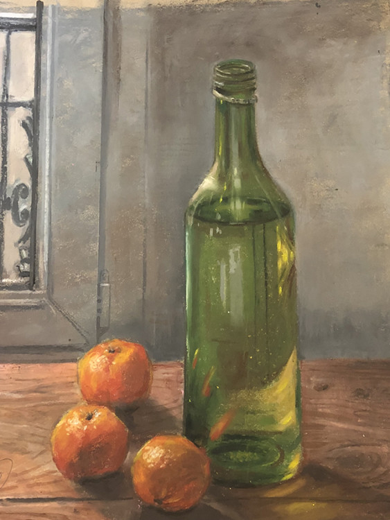 H Craig HANNA Tangerines and Bottle 2019
