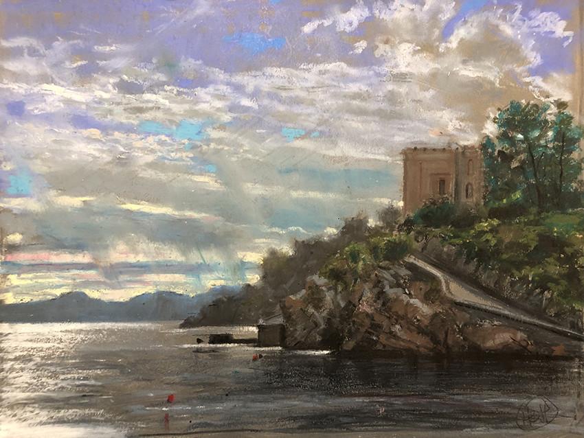 H Craig HANNA Maison sur la falaise 2019