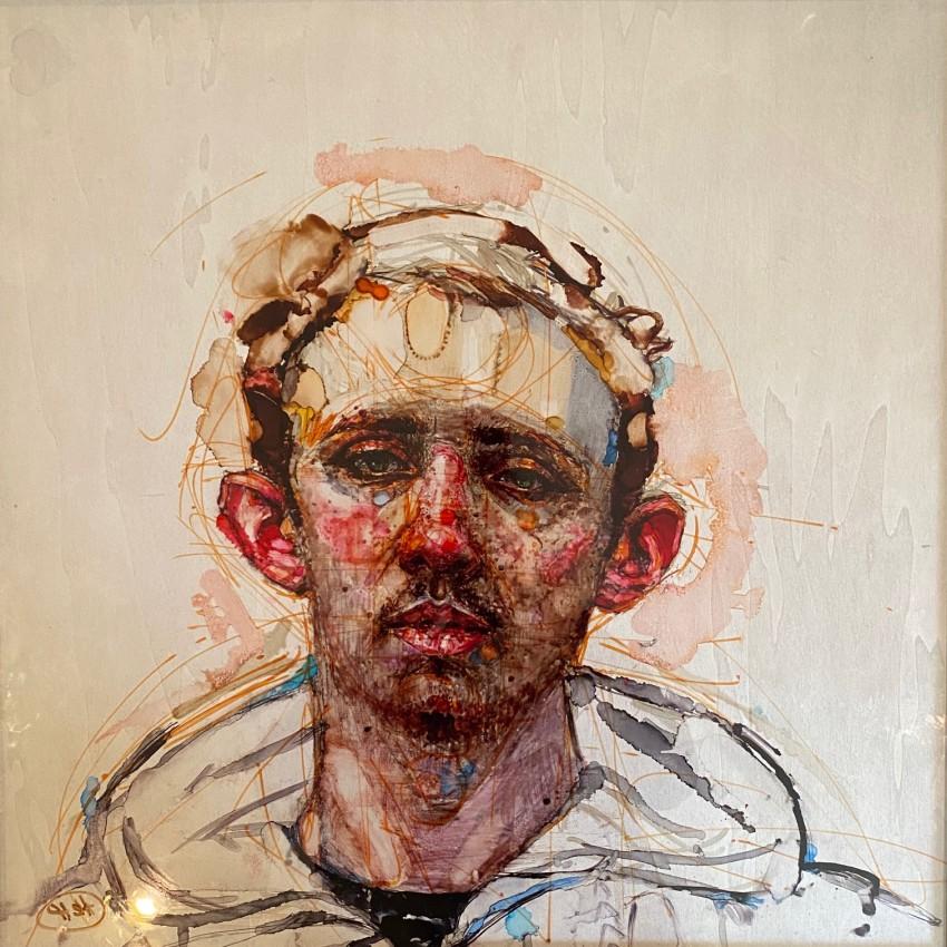 H Craig HANNA Portrait de jeune homme à la Capuche 2019