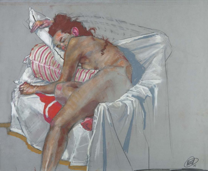 H Craig HANNA Stripes Pillow 2011