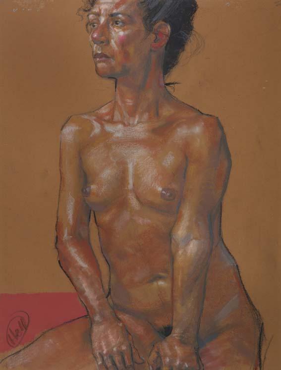 H Craig HANNA Femme aux Mains sur les Cuisses 2012