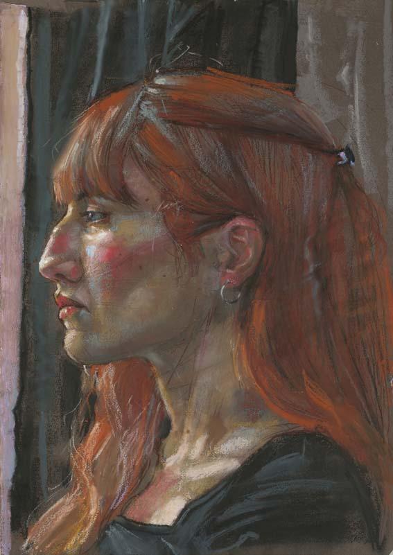 H Craig HANNA Profil d'une Jeune Femme Rousse 2011