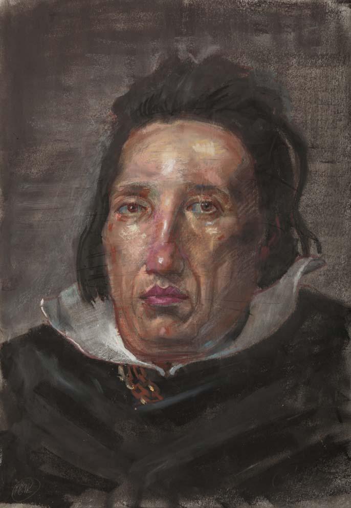H Craig HANNA Portrait d'après Vélasquez 2015