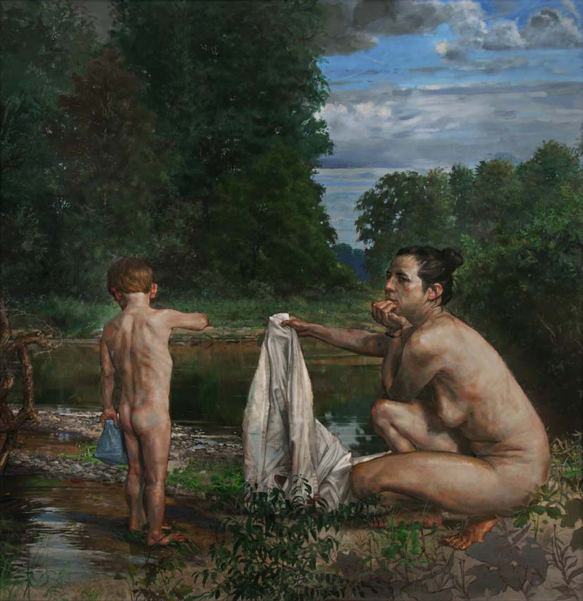 H Craig HANNA Mother and Child - Chagrin River 2013