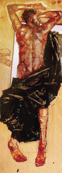 Man with Black Sheet 2008