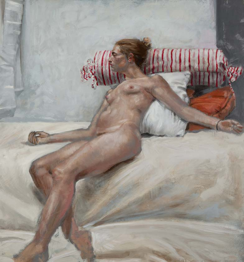 H Craig HANNA Woman with Pillows 2016