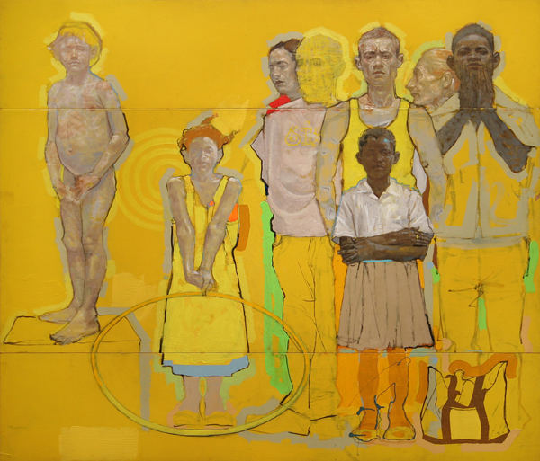 H Craig HANNA Arrangement of Figures in Yellow 2008