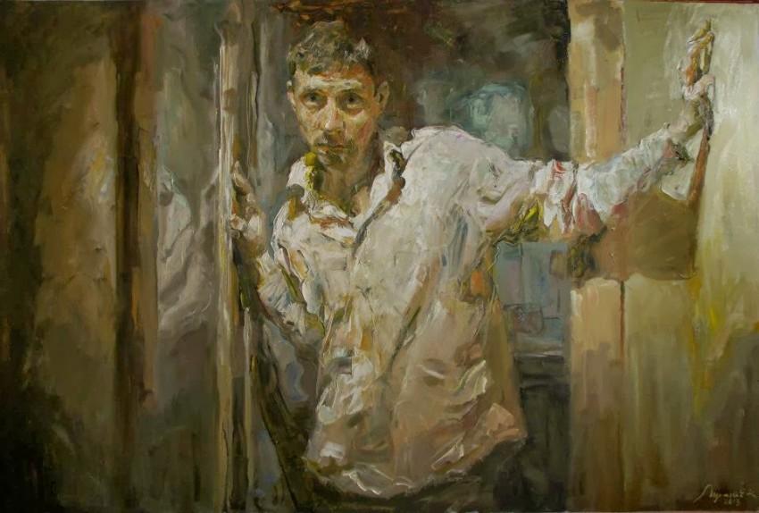 Kostya Lupanov Selfportrait in a doorway 2020
