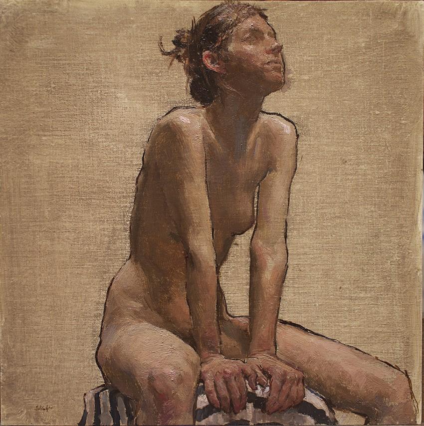Travis Schlaht Nude Blue Stripes 2016