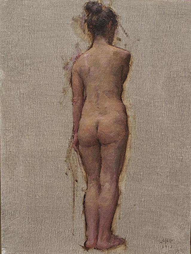 Travis Schlaht Nude Standing 2013