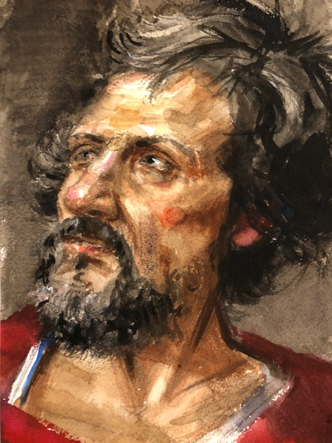 H Craig HANNA Man with beard and Red Shirt 2018