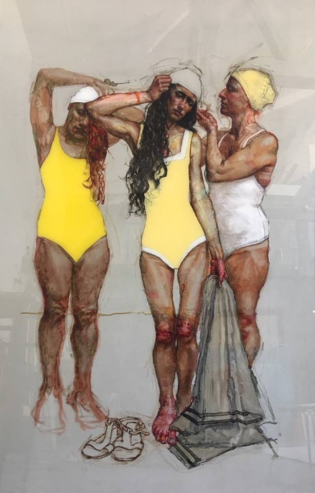 H Craig HANNA Bathers in yellow 2019