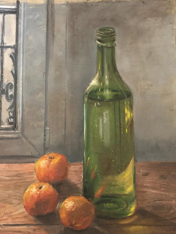 H Craig HANNA Tangerines and Bottle 2019