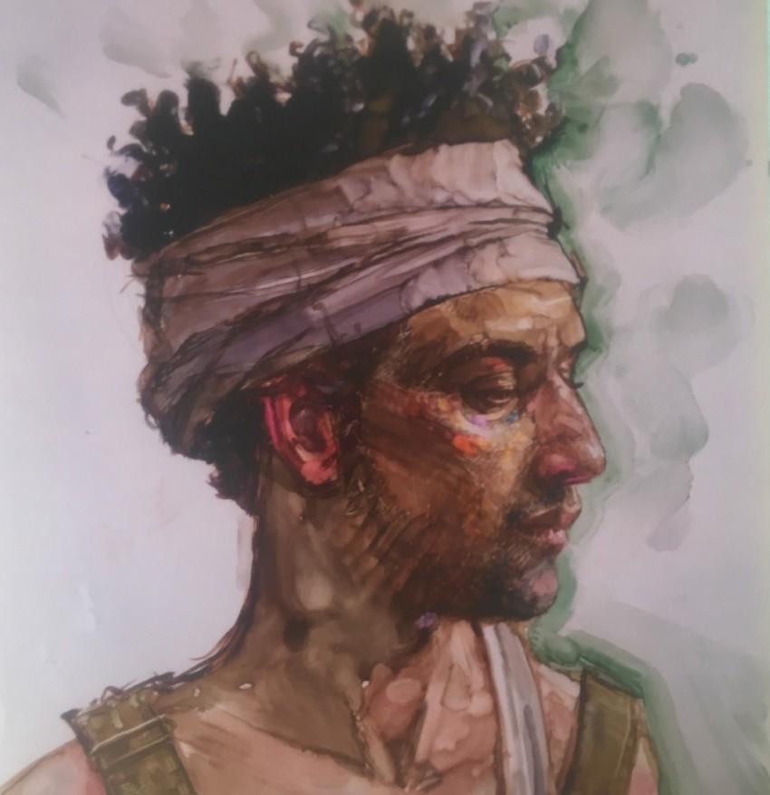 H Craig HANNA Homme au turban 2019