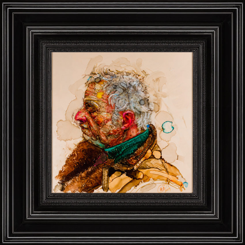 H Craig HANNA Old man with green scarf 2020