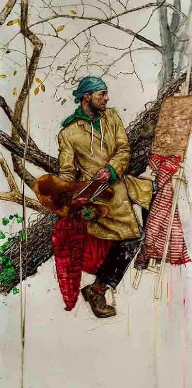 H Craig HANNA Selfportrait in the wood 2021