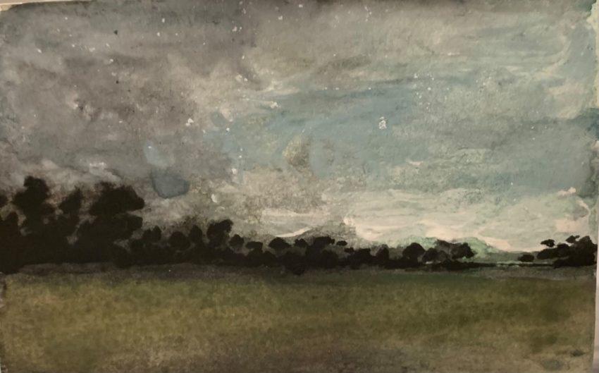 Alexandre Lutz Paysage vert et gris 2021